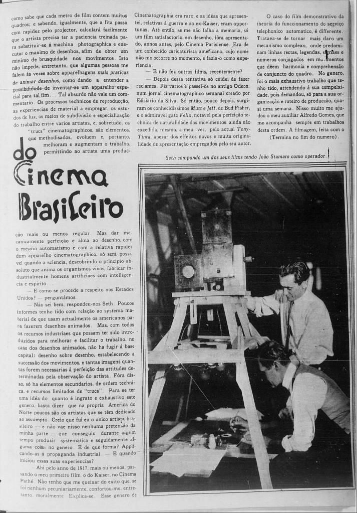 Matéria feita em 1930 pela extinta revista Cinearte (Ano V - edição 222).