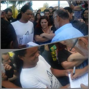 jonathan oliveira entrega pauta de reivindicações para o prefeito de rio das ostras alcebiades sabino